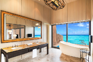 Overwater Villa with Pool - Bathroom