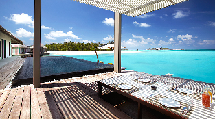 Water Villas - Terrace with dining area and Spacious Pool